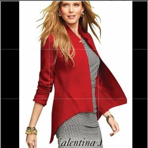Cabi Red Wool Swing Blazer Jacket Style 528 Medium